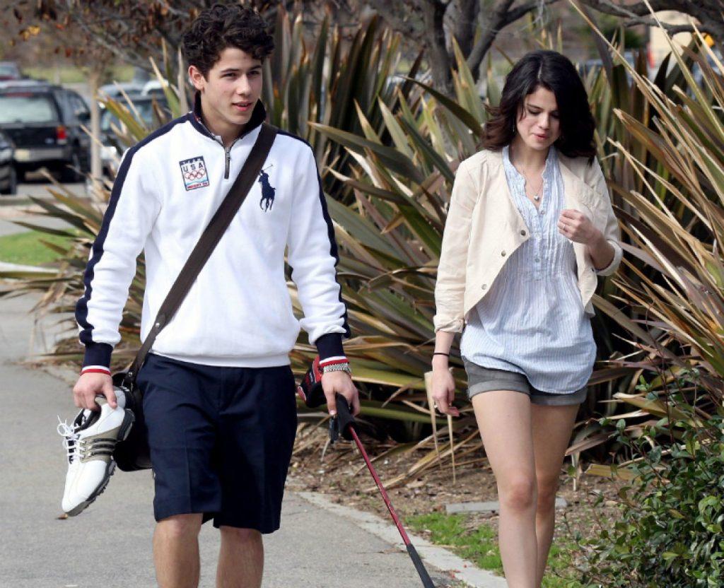 Selena junto a Nick hace unos años
