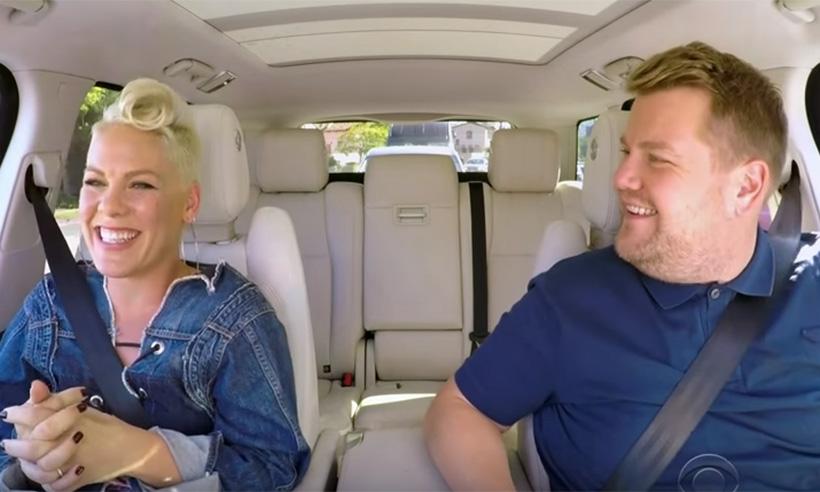 Pink y James Corden en divertido episodio de 'Carpool Karaoke'