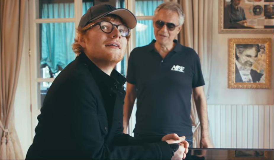 """Ed Sheeran lanza vídeo de """"Perfect Symphony"""" junto a Andrea Bocelli"""