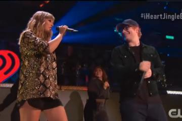 """Taylor Swift y Ed Sheeran interpretan en vivo por primera vez """"End Game"""""""