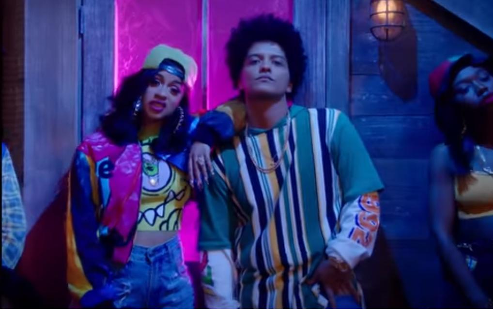 """Bruno Mars y Cardi B lanzan vídeo oficial para el rémix de """"Finesse"""""""