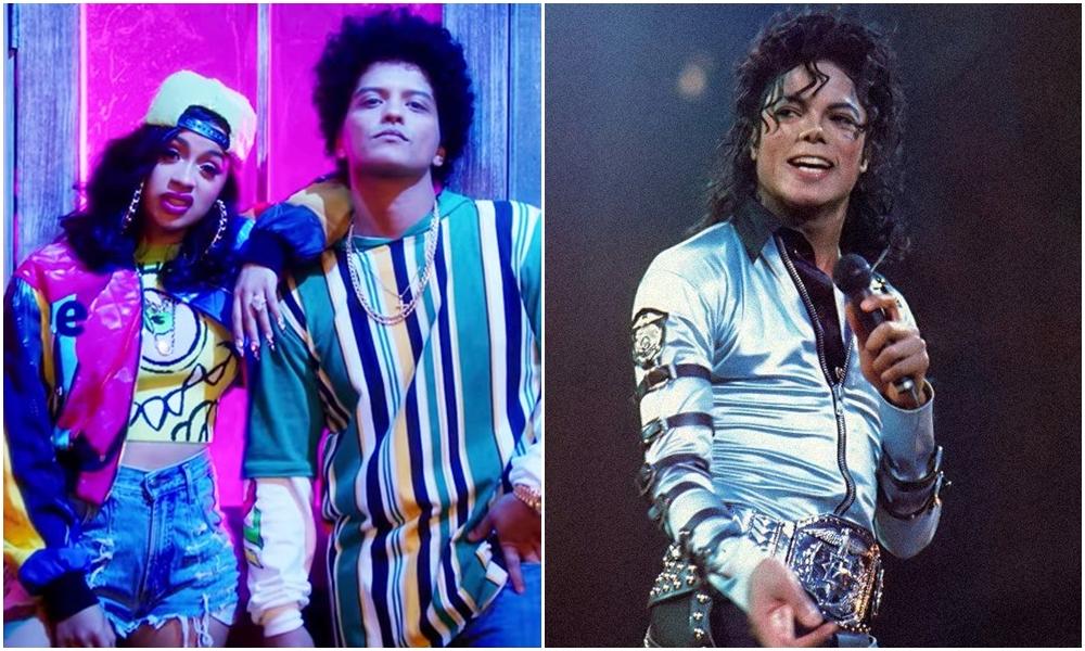 Bruno Mars y Cardi B igualan récord de Michael Jackson