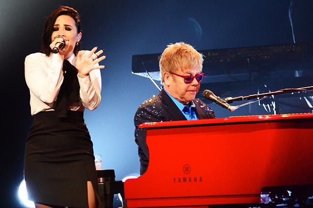 ¿Elton John y Demi Lovato lanzarán una colaboración?