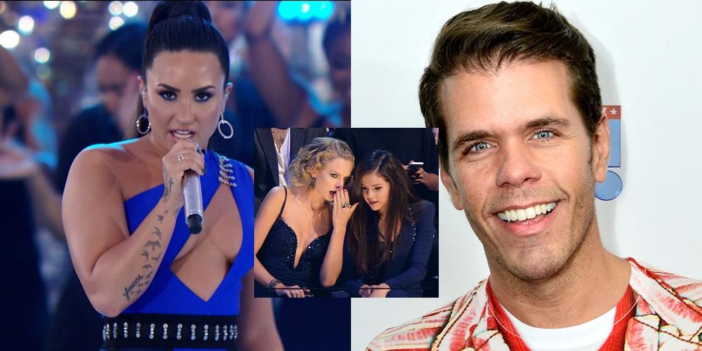 Perez Hilton le respondió a Demi Lovato comparándola con Taylor Swift y Selena Gomez
