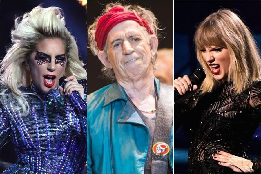 Guitarrista de The Rolling Stones alaba a Lady Gaga y ataca a Taylor Swift