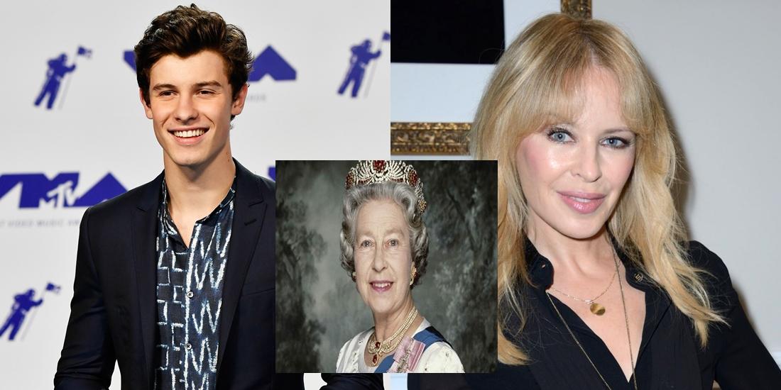 Kylie Minogue y Shawn Mendes cantará en el cumpleaños de la Reina Isabel