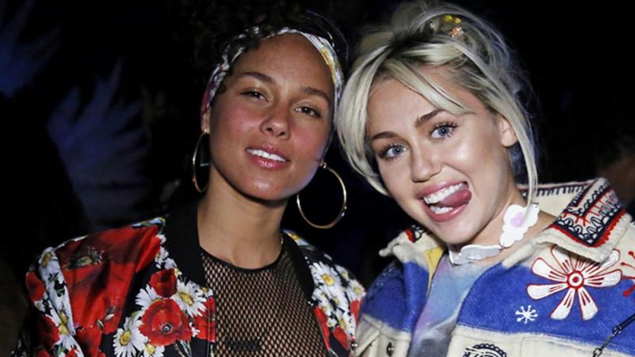Miley Cyrus y Alicia Keys podrían estar trabajando en una colaboración