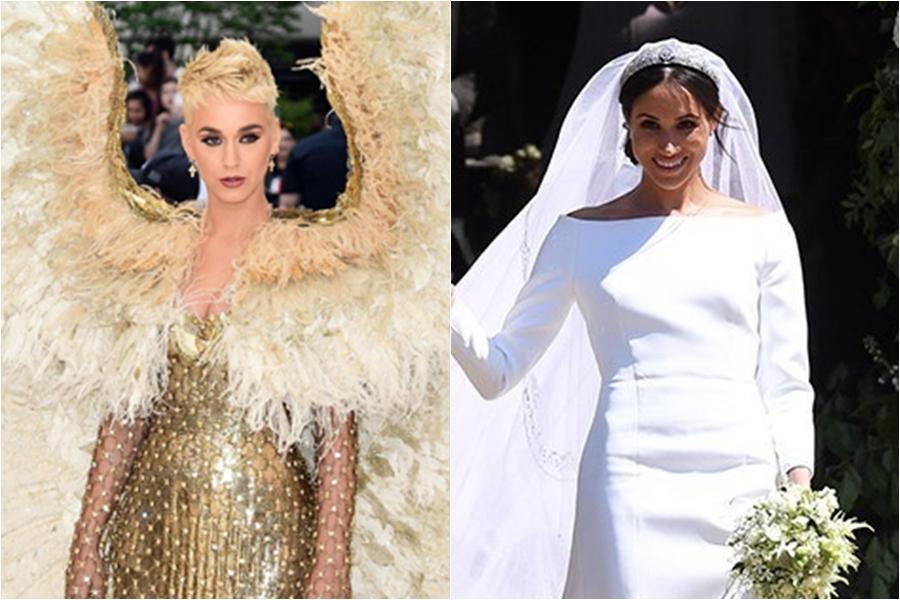 Katy Perry crítica el vestido de novia de Meghan Markle