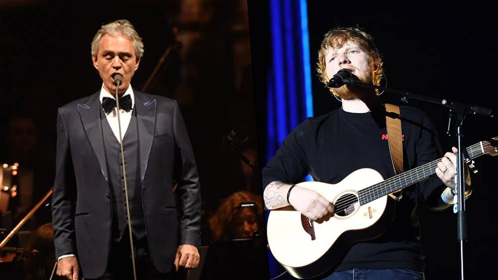 """Ed Sheeran y Andrea Bocelli presentaron por primera vez en vivo """"Perfect Symphony"""""""