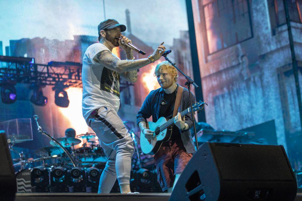 """Eminem lanzó vídeo oficial de la primera presentación de """"River"""" con Ed Sheeran"""