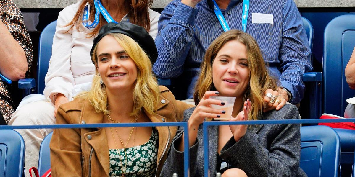Cara Delevigne luce feliz en publico con su nueva esposa Ashley Benson
