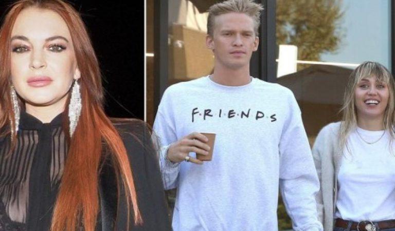 Lindsay Lohan lanza shade a la relación de Miley Cyrus y Cody Simpson