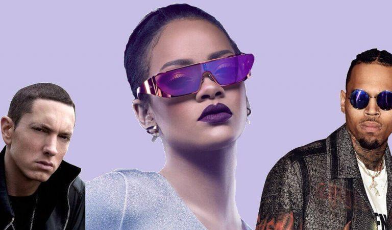 Eminem apoya golpiza que Chris Brown le dio a Rihanna en canción filtrada
