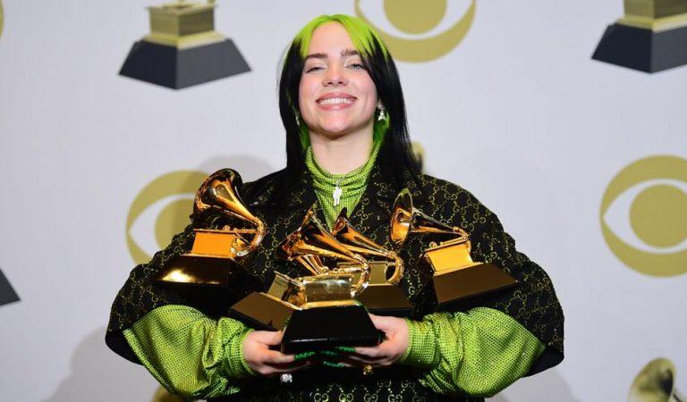Billie Eilish rompe récords y se convierte en la reina de los Grammy Awards 2020