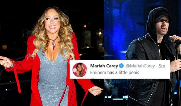 Hackean el Twitter a Mariah Carey y lanzan shade a Eminem 'tiene el p*** pequeño'