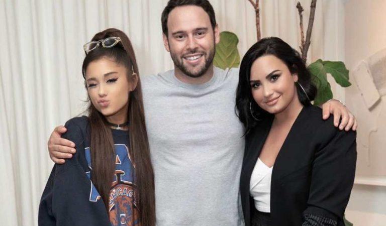 Scooter Braun reveló que solo firmó a Demi Lovato luego de que Ariana Grande lo aprobara