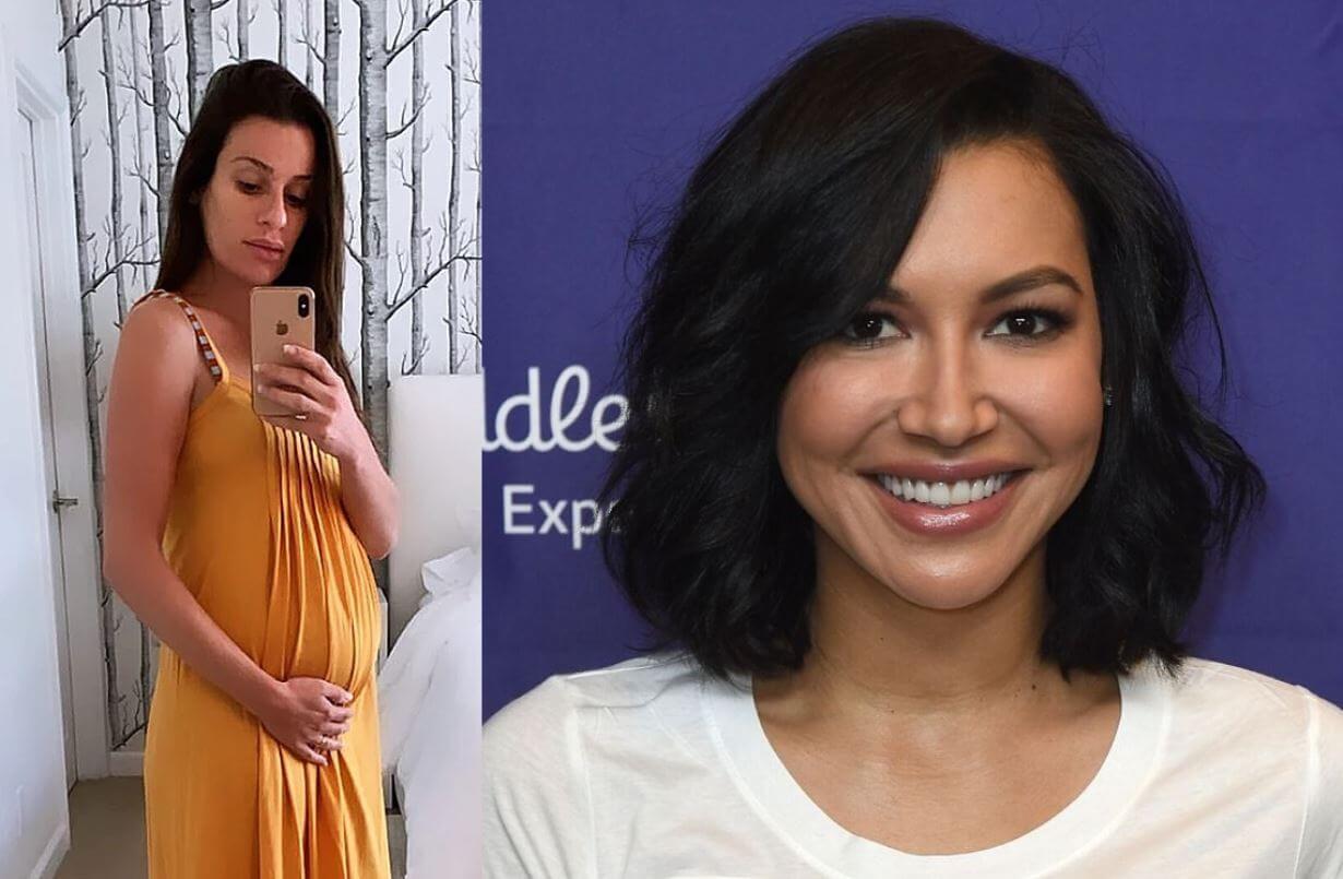 Embarazada Lea Michele le rinde homenaje a Naya Rivera a pesar de enemistad en vida