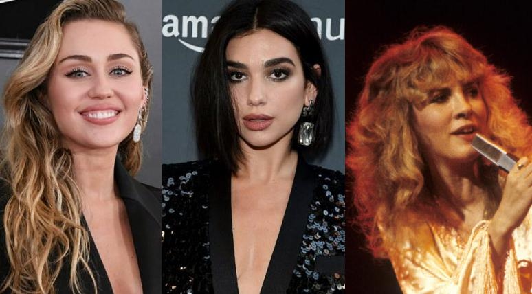 Dua Lipa revela que le encantaría formar un 'supergrupo' con Miley Cyrus y Stevie Nicks