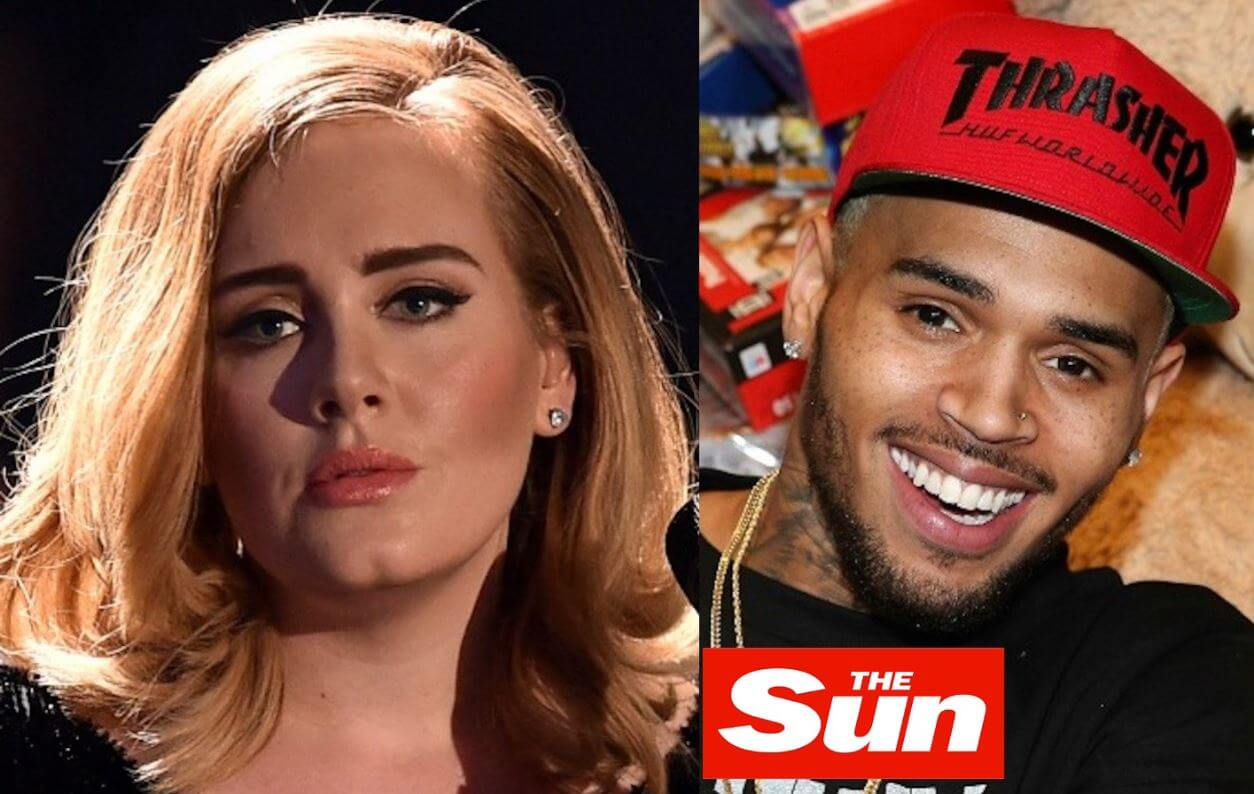 Adele aclara rumores de noviazgo con Chris Brown y podría demandar a The Sun por difamación