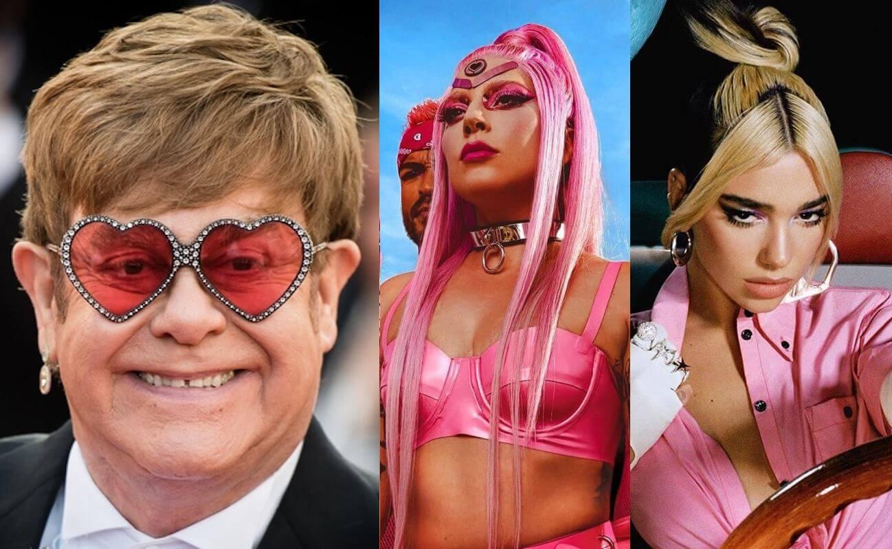 Elton John dice que Lady Gaga se inspiró en los sonidos de Dua Lipa para 'Chromatica'