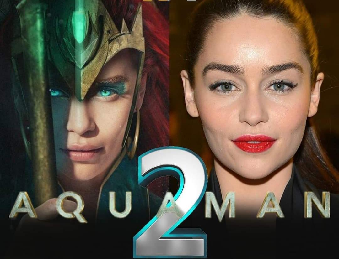 "¿Despidieron a Amber Heard? Revelan imágenes de Emilia Clarke como 'Mera' en ""Aquaman 2"""