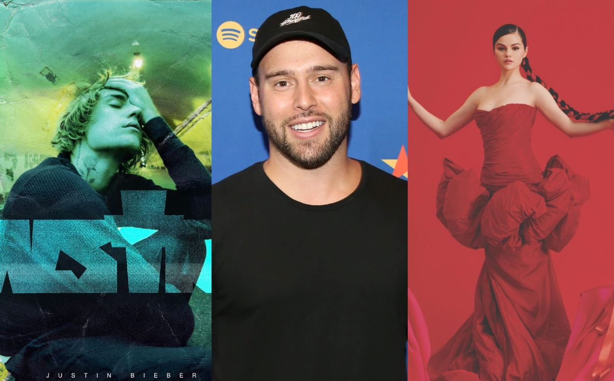 Scooter Braun pauta estreno de Justin Bieber junto al de Selena Gomez para enfrentarlos en charts