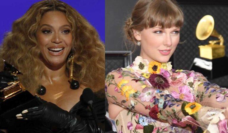 Vea como Beyoncé felicita a Taylor Swift por ganar el Grammy a álbum del año con 'folklore'