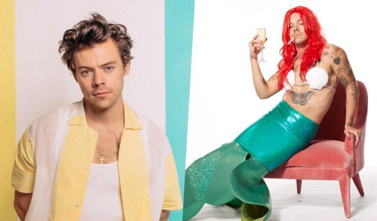 """Harry Styles causa furor en redes en traje de """"La Sirenita"""""""