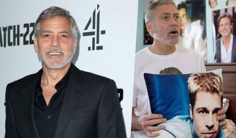 George Clooney habla de lo lejos que puede llegar su fanatismo por Brad Pitt