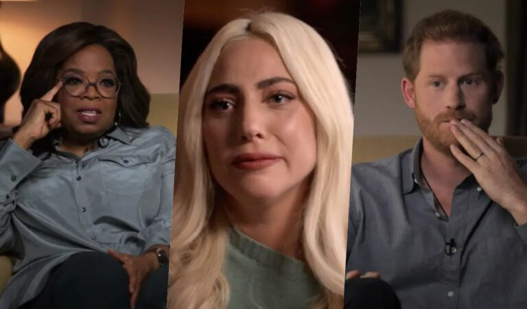 Lady Gaga rompe en llanto en el tráiler del programa presentado por Oprah Winfrey y el Príncipe Harry