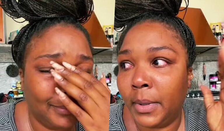 Lizzo llora desconsoladamente en un video mientras confiesa que se siente 'como una carga'