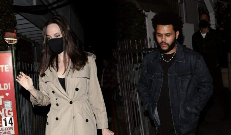 ¿Están saliendo? The Weeknd y Angelina Jolie fueron visto juntos durante la noche. Rumores dicen que están saliendo