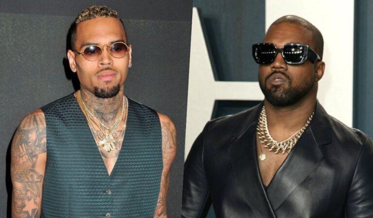 "Chris Brown insulta a Kanye West ""Kanye es una completa zorra"""
