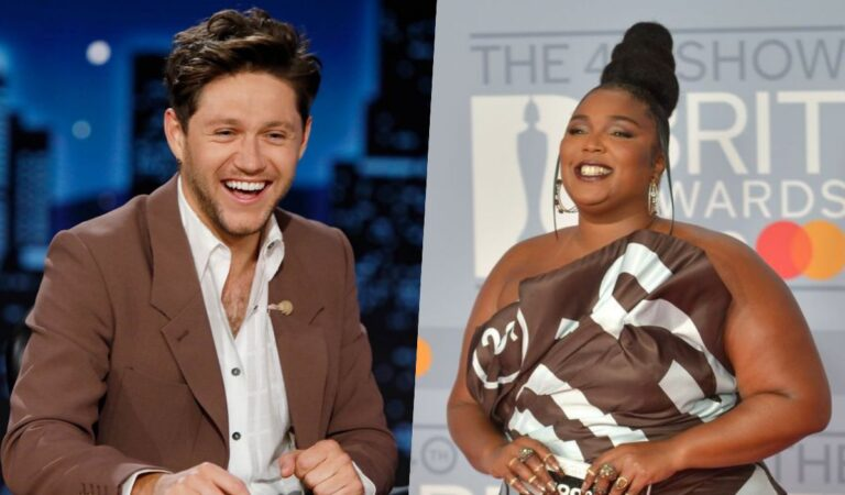 Niall Horan y Lizzo coquetean en el programa de televisión 'Jimmy Kimmel Live!'