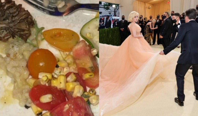 Una ensalada costó 30 mil dólares en la Met Gala, las fotografías que desilusionaron a todos